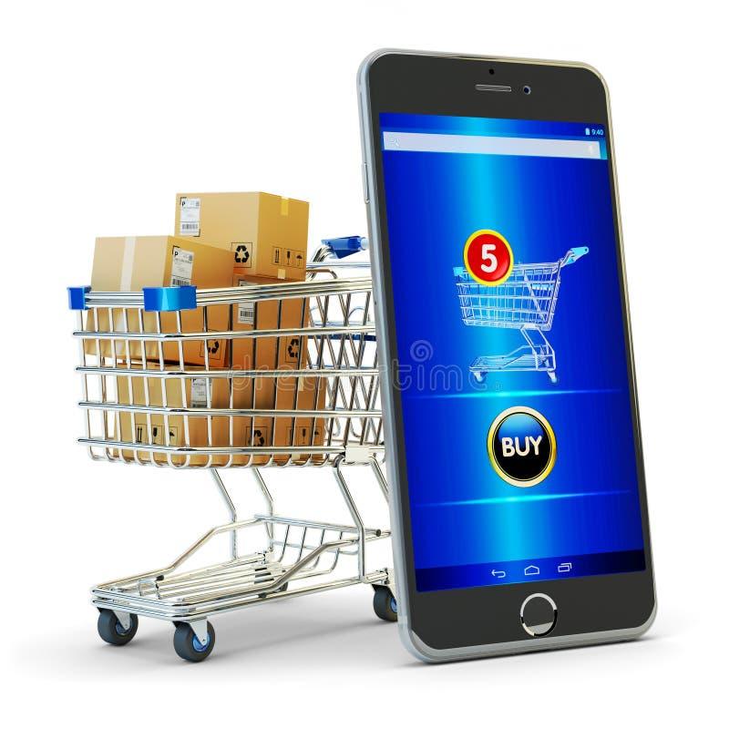 Online zakupy, internetów zakupy i handlu elektronicznego pojęcie, zdjęcie royalty free