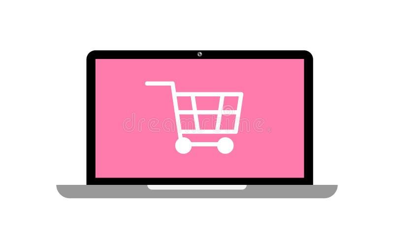 Online zakupy poj?cia laptop i w ilustracji