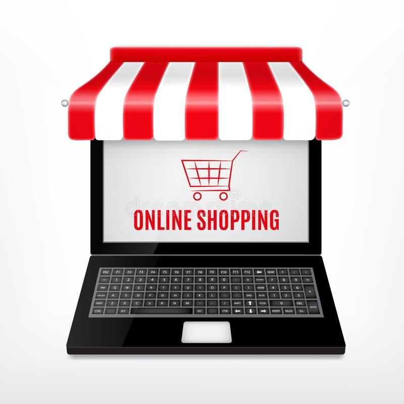 Online zakupy pojęcie royalty ilustracja