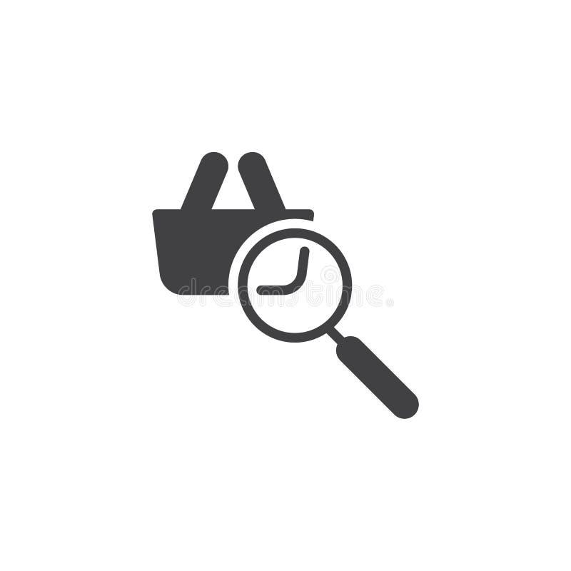 Online zakupy rewizji wektoru ikona ilustracja wektor