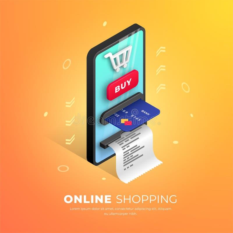 Online zakupy sieci sztandaru poj?cie ilustracja wektor