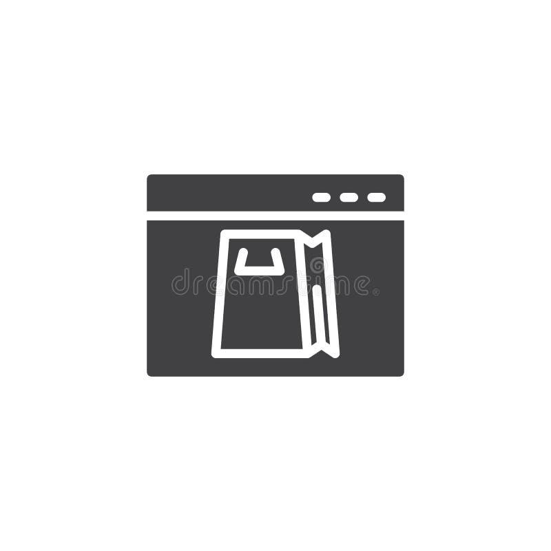 Online zakupy wektoru ikona royalty ilustracja