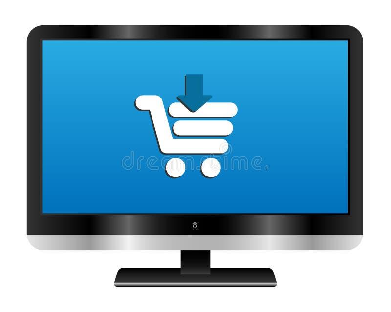 Onlineeinkaufen vektor abbildung