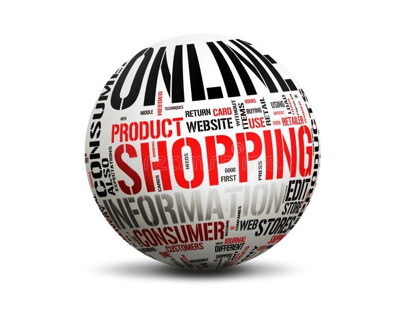 Onlineeinkaufen lizenzfreie abbildung
