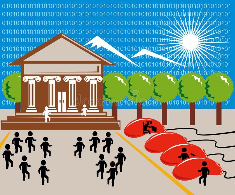 Onlineeinkaufen und Bankverkehr vektor abbildung
