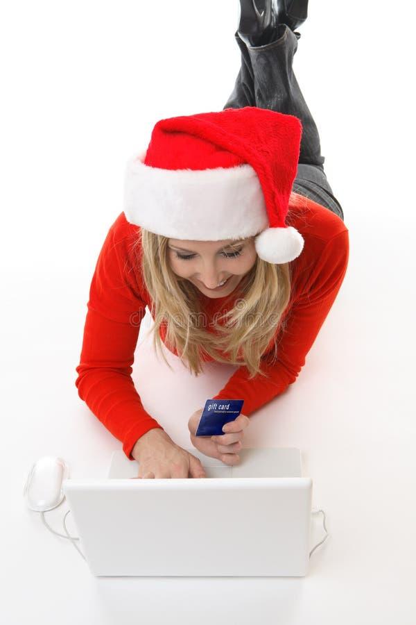 Onlineeinkaufenkauf oder -zahlung lizenzfreies stockfoto