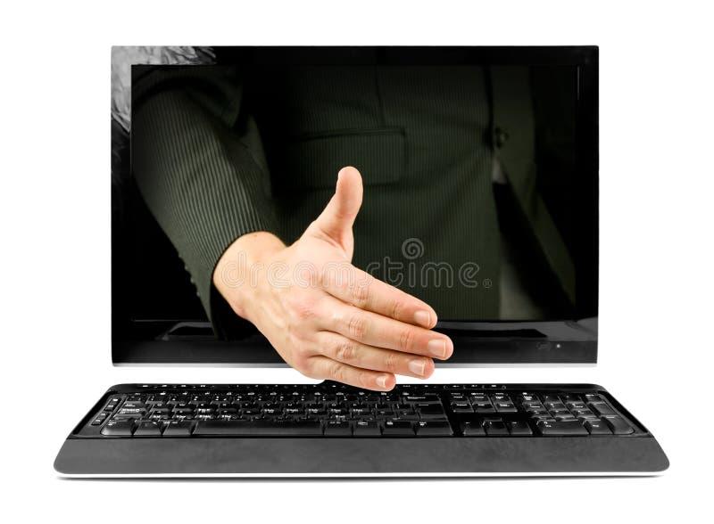 Onlinegeschäftsabkommen stockfoto