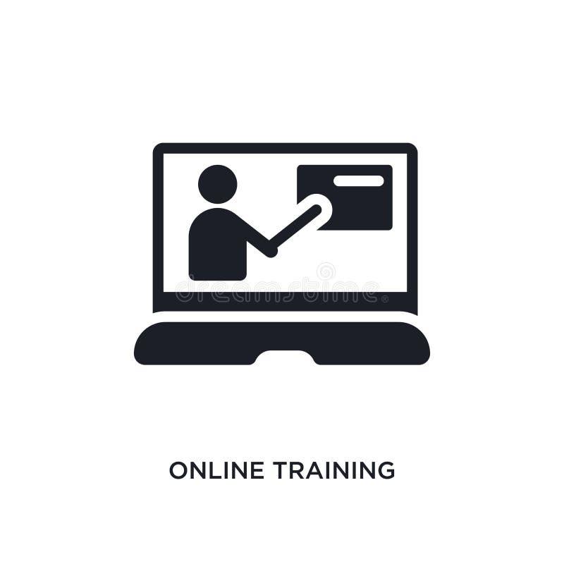 onlinego szkolenia odosobniona ikona prosta element ilustracja od nauczania online i edukacji pojęcia ikon online szkolenie edita ilustracja wektor