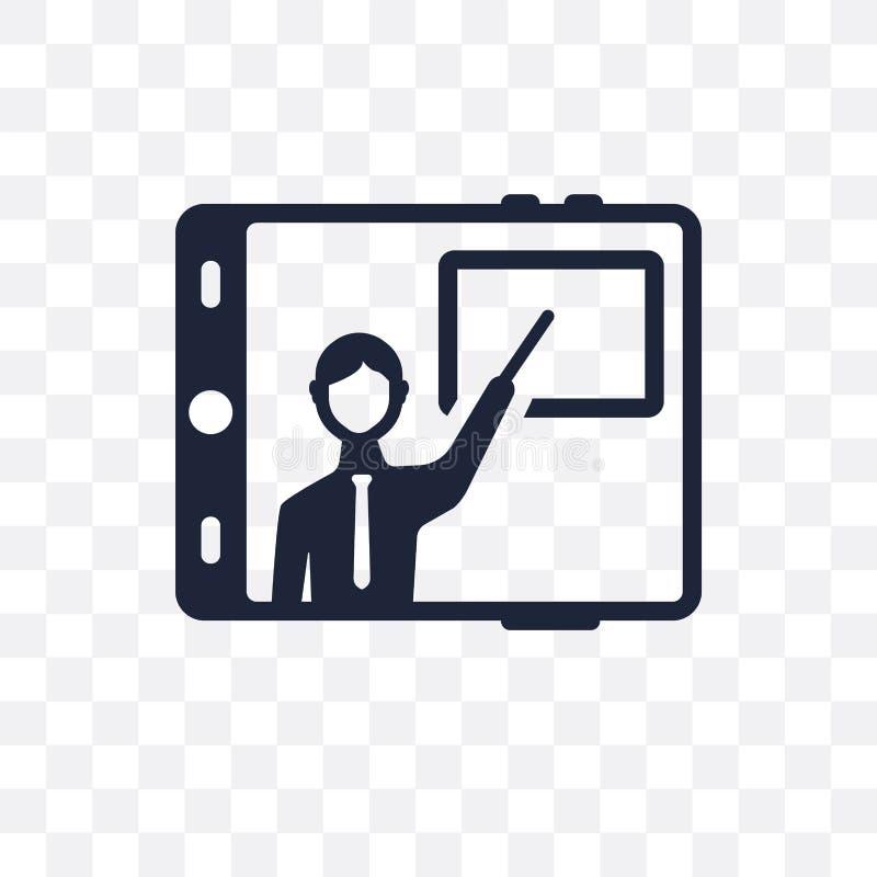 onlinego trenowania przejrzysta ikona online trenowanie symbolu projekt ilustracja wektor