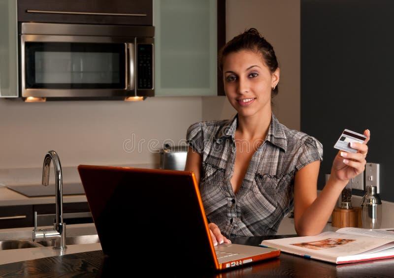 Onlinekäufer stockbilder