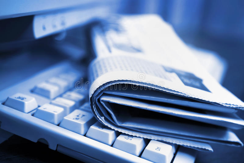 Onlinenachrichten stockfotografie