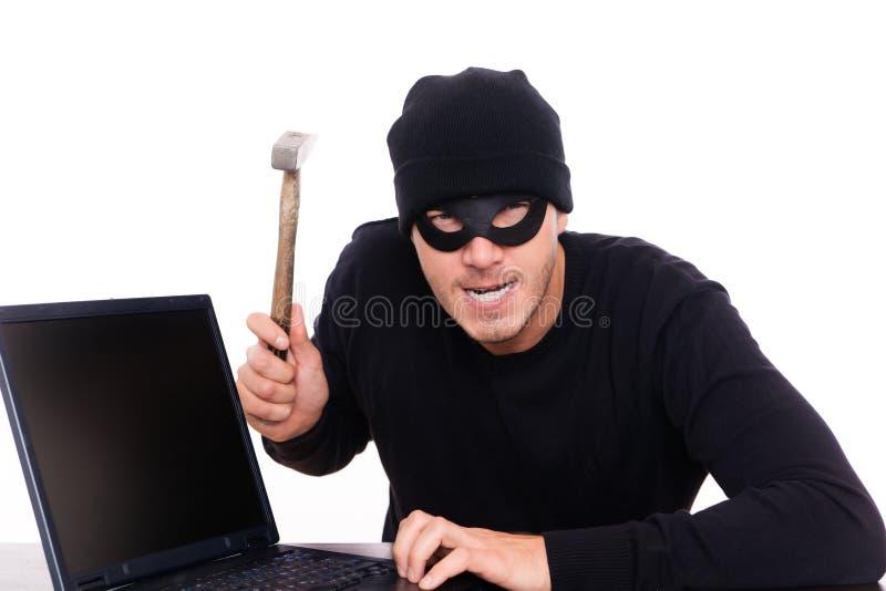 Onlineräuber lizenzfreie stockfotografie