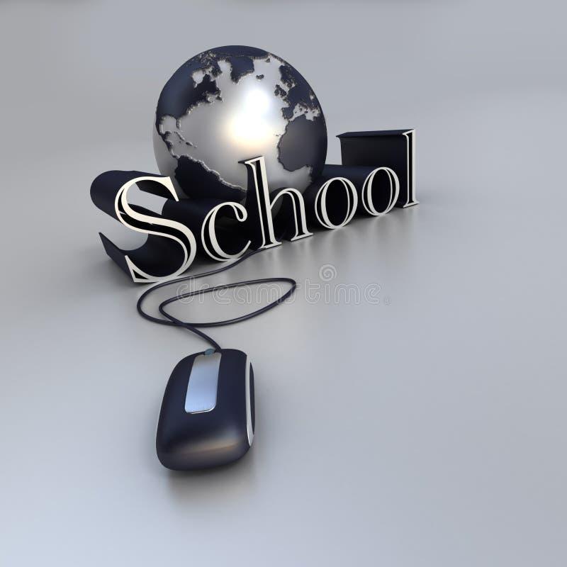 Onlineschule lizenzfreie abbildung