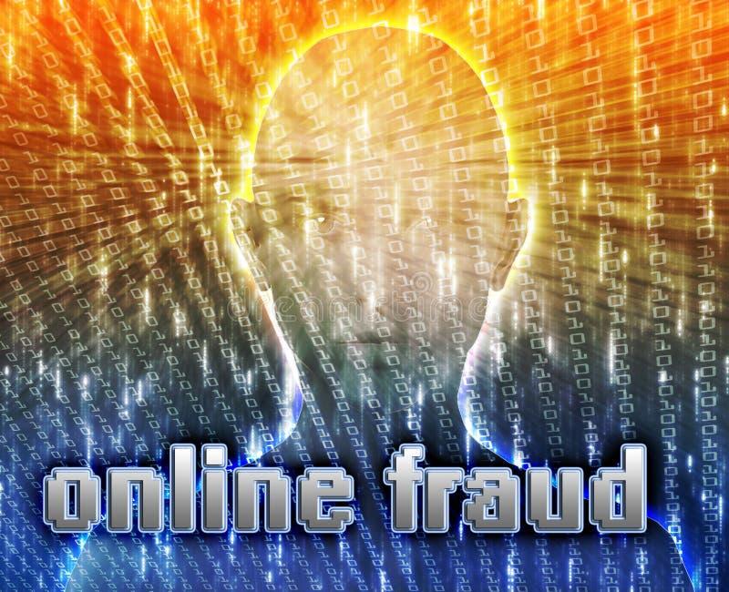 Onlineverbrechen lizenzfreie abbildung