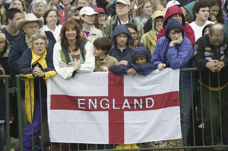Onlooker Displaying English Flag Editorial Stock Image