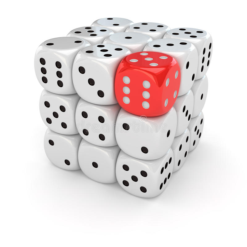 Free Only One Red Dice Royalty Free Stock Photo - 29264965