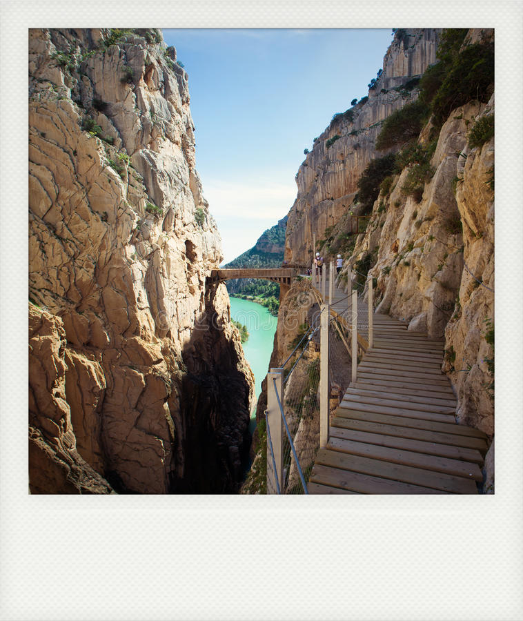Onmiddellijke caminito del Rey van fotogr stock foto