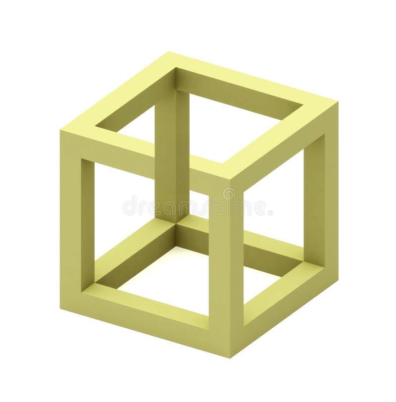 Onmogelijke kubus vector illustratie