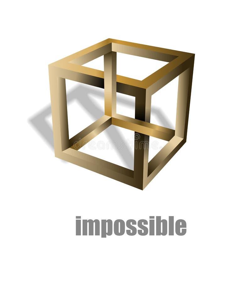 Onmogelijke kubusoptische illusie vector illustratie