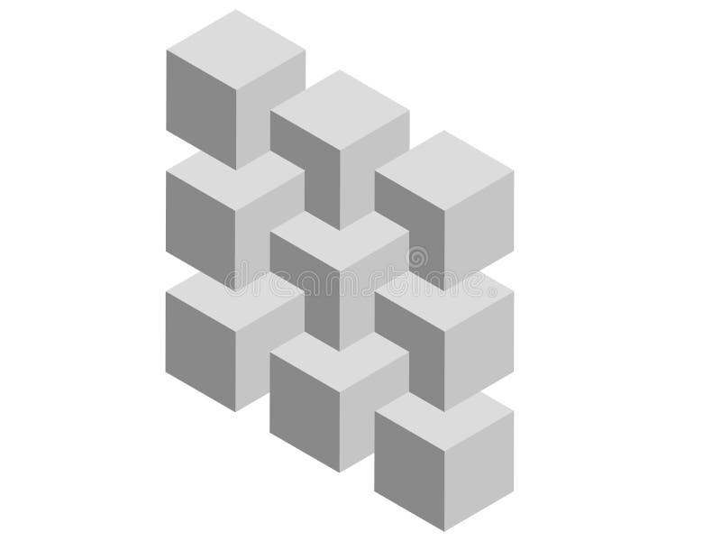 Onmogelijke kubussen royalty-vrije illustratie
