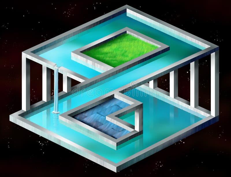 Onmogelijke structuur stock illustratie