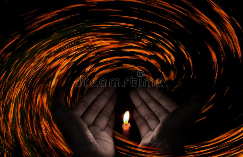 Ono modli się dla Irma herricane, ono Modli się dla światu, zdjęcia royalty free