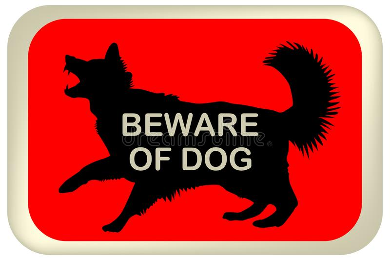 Ono wystrzega się psa znak ilustracja wektor