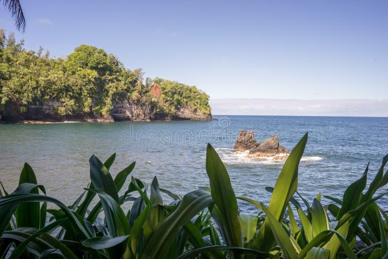 Onomea zatoka Hawaje obrazy stock