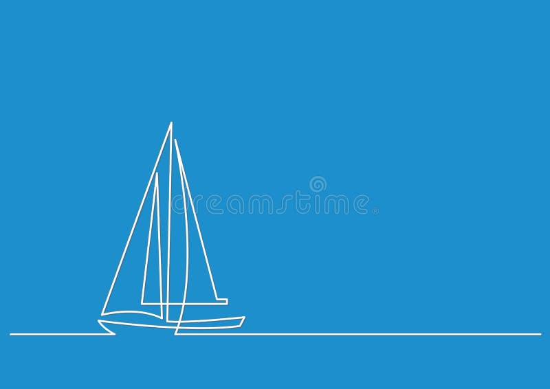 Ononderbroken lijntekening vector illustratie