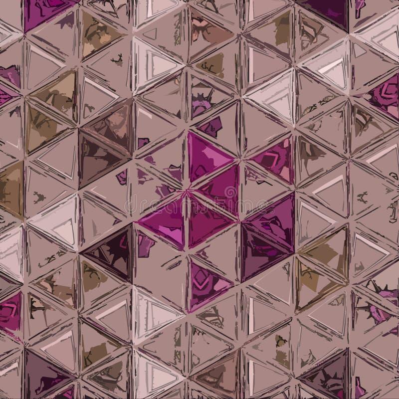 Ononderbroken wijn abstract patroon als achtergrond dat met driehoeken wordt gemaakt royalty-vrije stock foto