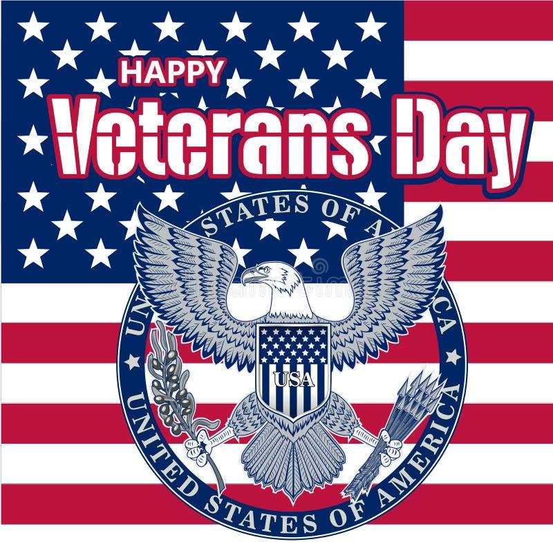 Onorando tutti che serviscano Giorno di veterani La calligrafia di tendenza Illustrazione di vettore su priorità bassa bianca Cuo royalty illustrazione gratis