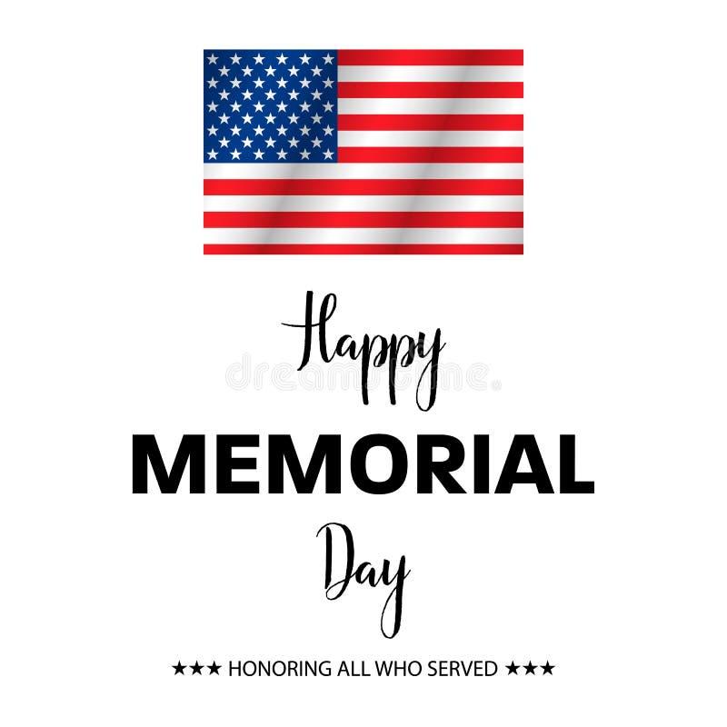 Onorando tutti che serviscano, Memorial Day felice, illustrazione di vettore illustrazione vettoriale