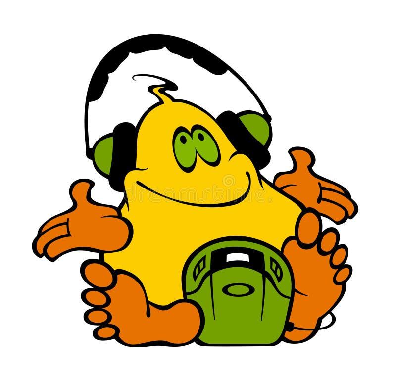 onormal headphone stock illustrationer