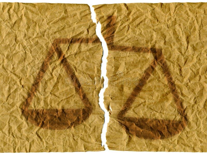 Onrechtvaardigheid royalty-vrije illustratie