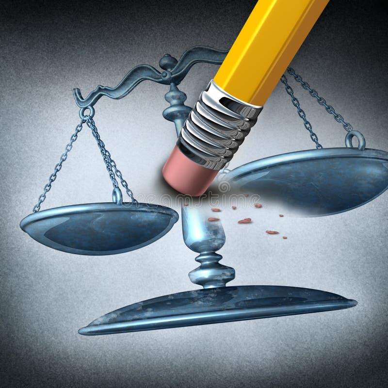 Onrechtvaardigheid en Onderscheid vector illustratie