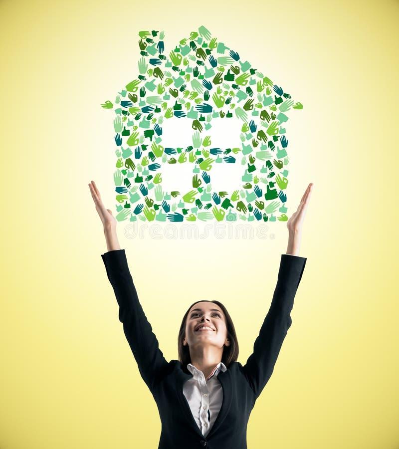 Onroerende goederen en hypotheekconcept royalty-vrije stock fotografie