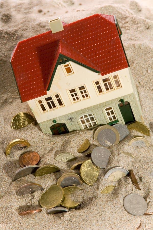 Onroerende goederen - Financiële Crisis royalty-vrije stock foto