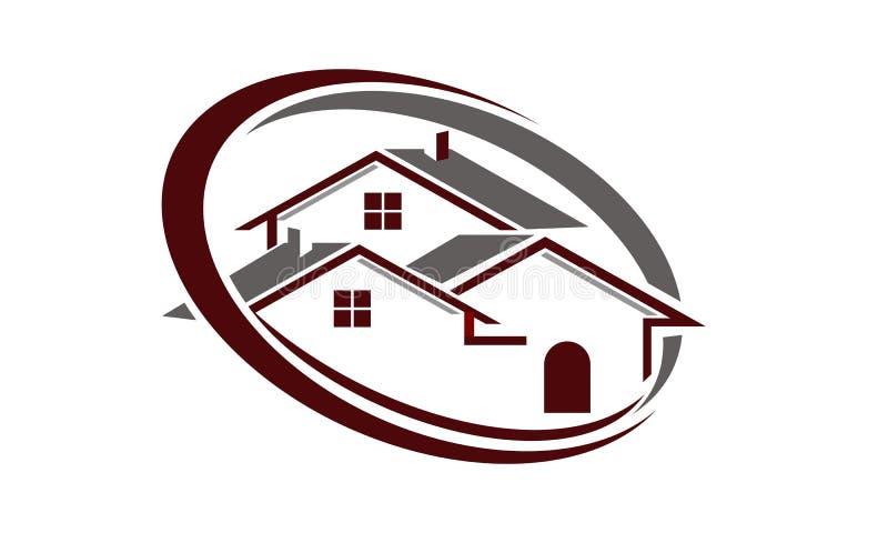Onroerende goederen huis vector illustratie