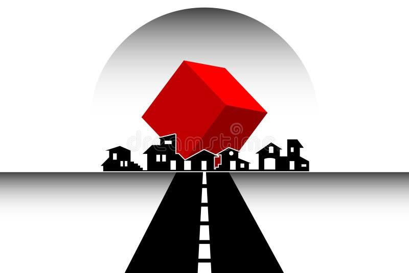 Onroerende goederen huizen - - Bouw vector illustratie