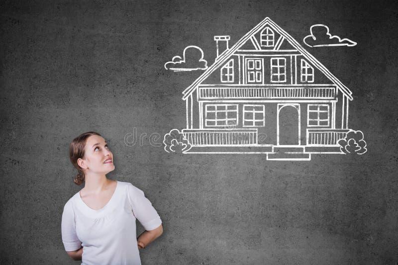 Onroerende goederen, hypotheek en bezitsconcept royalty-vrije stock afbeelding
