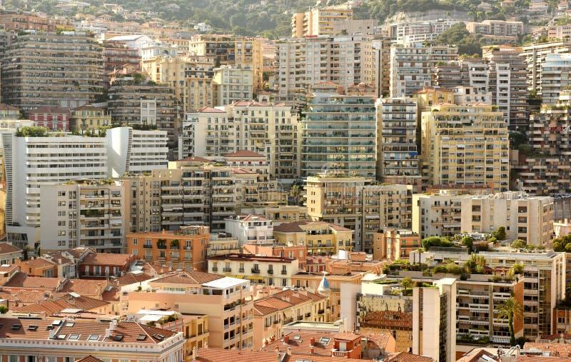 Onroerende goederen Monaco en Beausoleil, Kooi D 'Azur van Franse Riviera stock afbeelding