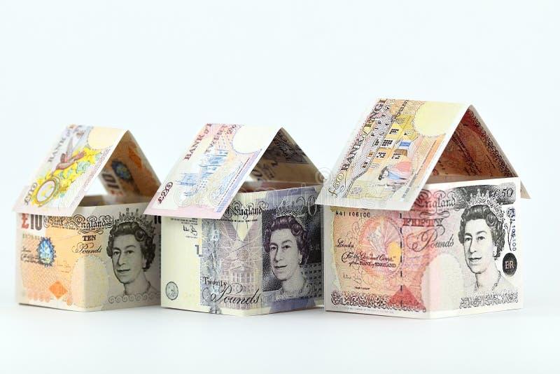 Onroerende goedereninvestering in het UK, een bloeiende toekomst stock foto