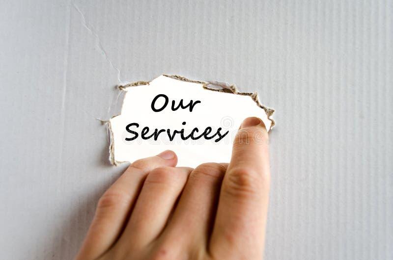 Ons concept van de de dienstentekst royalty-vrije stock afbeeldingen