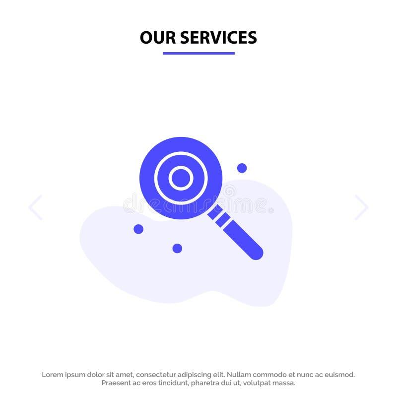 Ons de Dienstensuikergoed, Lollypop, Lollie, Zoet Stevig Glyph-de kaartmalplaatje van het Pictogramweb royalty-vrije illustratie