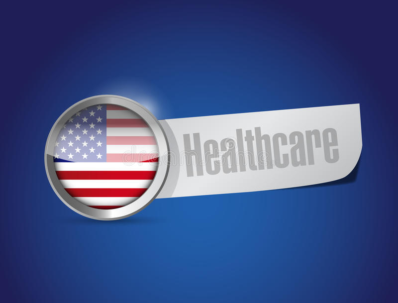 Ons de illustratieontwerp van het gezondheidszorgteken stock illustratie