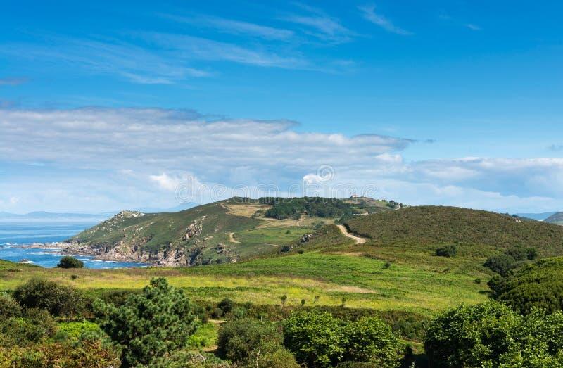 Ons Island i Galicia, Spanien royaltyfri fotografi