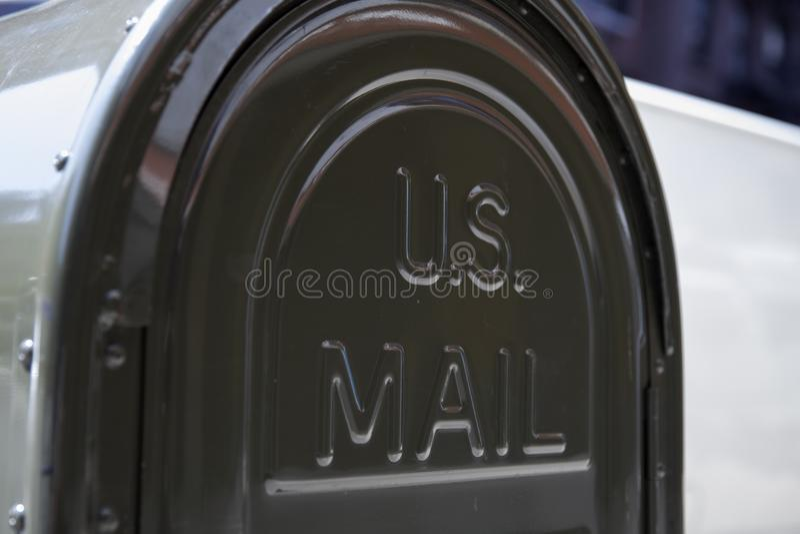 Ons posten brievenvakje royalty-vrije stock afbeelding