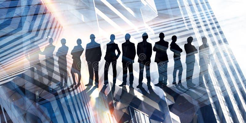 Ons succesvol commercieel team stock foto