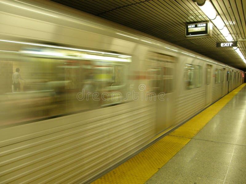 Onscherp beeld van metro royalty-vrije stock foto's