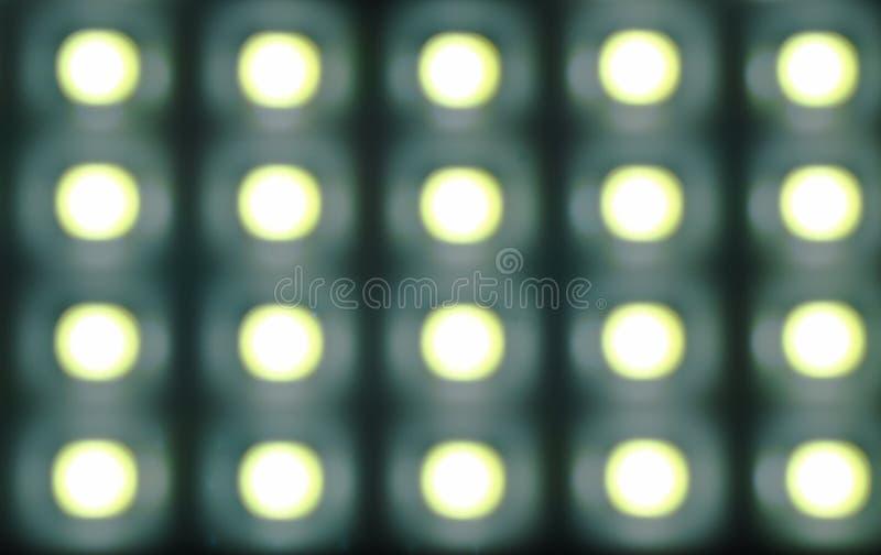 Onscherp kunstmatig flitslicht van lamp in nachtachtergrond en textuur royalty-vrije stock afbeelding